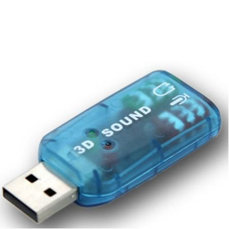 Звукова карта Zik USB, 2.1 channels, Синя